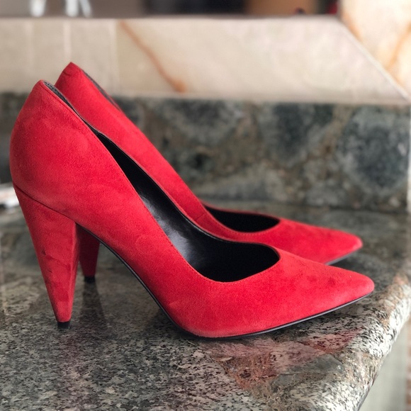 Marc Fisher Shoes | Ltd Red Suede Pump